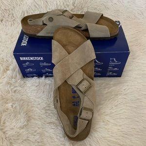 Birkenstock Tulum Taupe Suede Sandals